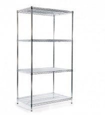 Chrome-rack basisstelling H:1650mm D:610mm B:912mm 4 niveaus