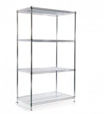 Chrome-rack basisstelling H:1800mm D:610mm B:1062mm 5 niveaus